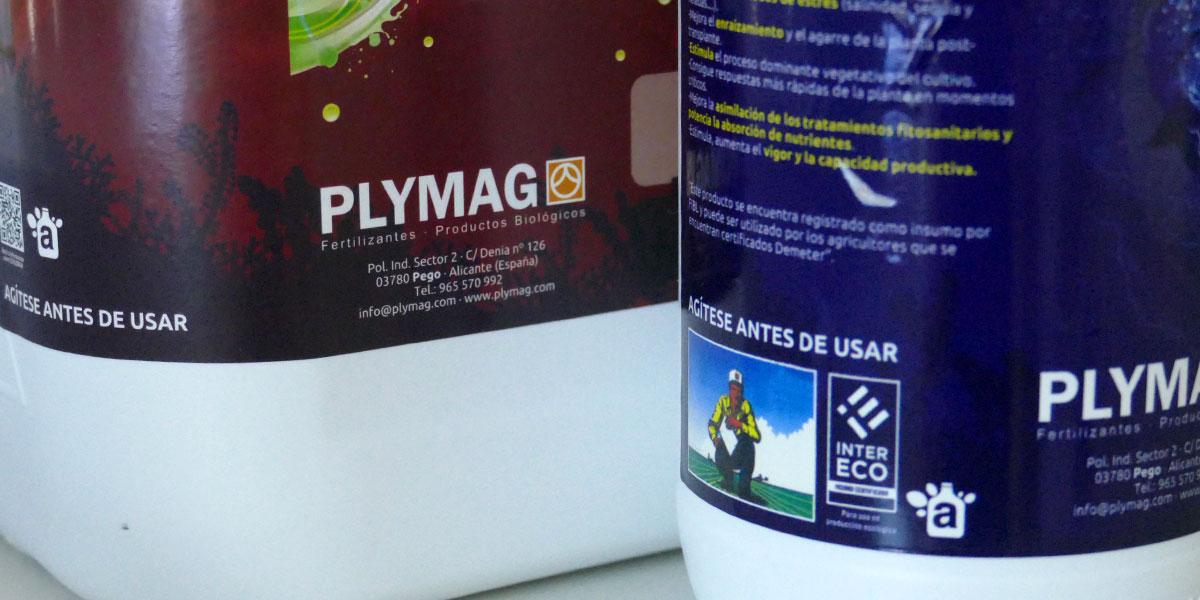 Envases Plymag con logotipo de AEVAE