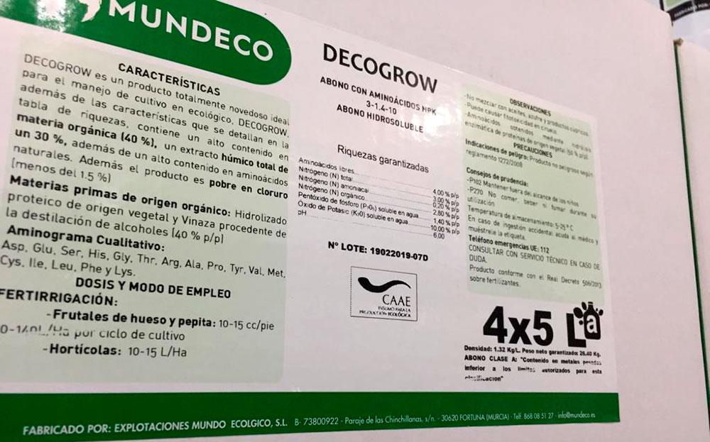 Etiquetas de fertilizantes MUNDECO